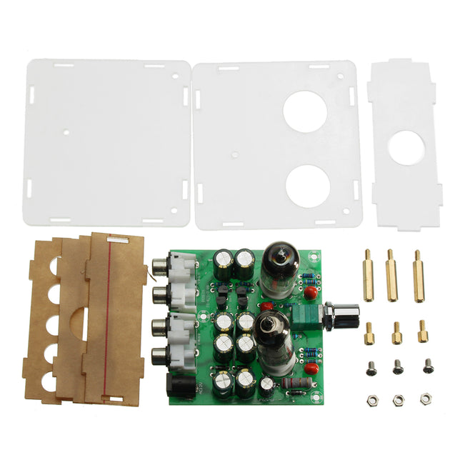 AC 12V 6J1 Valve Pre-amp Tube PreAmplifier Board Headphone Amplifier Buffer With Acrylic Case