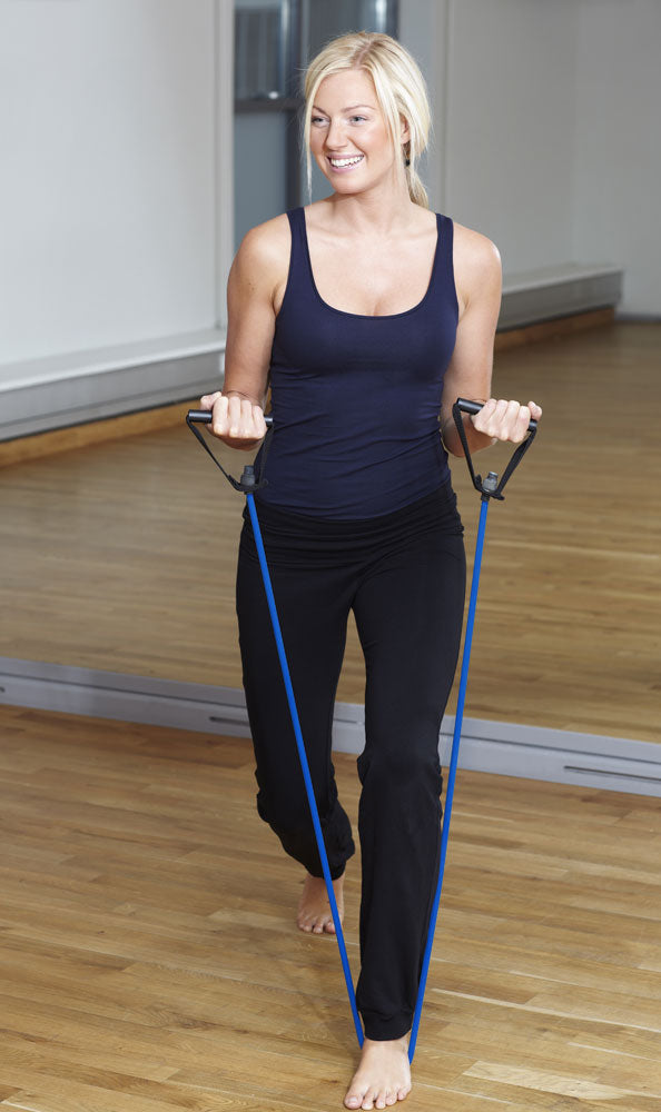 4' Black Medium Tension (12 lb.) Exercise Resistance Band