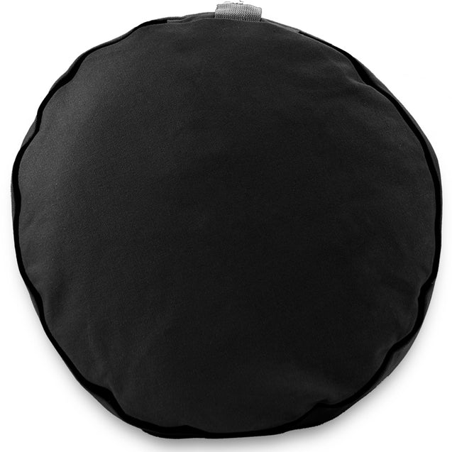 "Black 15"" Round Zafu Meditation Cushion"