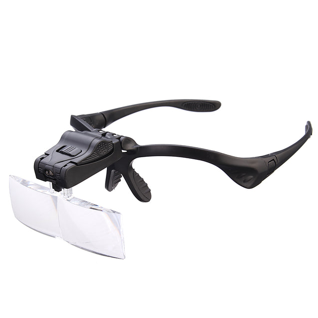 Headbrand LED Magnifier Loupe Reading Glasses 5 Lens 1.0X 1.5X 2.0X 2.5X 3.0X Repairing Tool