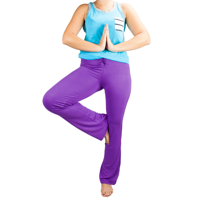 X-Large Purple Relaxed Fit Yoga Pants