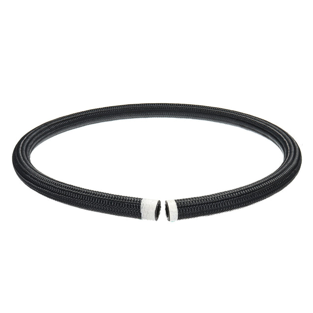 Black Nylon Stainless Steel Braided Pipe Gas Oil Fuel Coolant Hose 10-AN AN10 1M