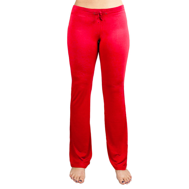 Small Red Relaxed Fit Yoga Pants