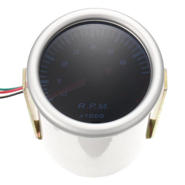 Universal Car 52mm 2 Inch Counter Tacho Tachometer Gauge Pointer RPM White LED 12V