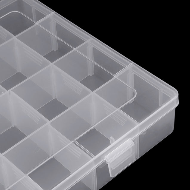 28 Grid Adjustable Electronic Components Project Storage Assortment Box Bead Organizer Jewelry Box Plastic Storage Case