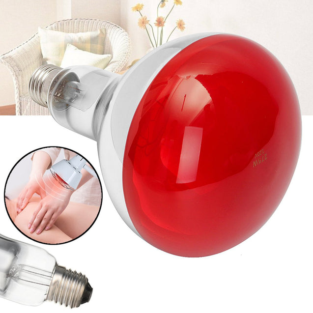 AC220V E27 275W Infrared Floor Stand Heat Lamp Bulb for Health Pain Relief Therapy