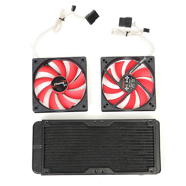 PC Liquid Cooling 240 Radiator Kit Pump Reservoir CPU GPU Block Pump Reservoir Tubing Barb 3/8 ID