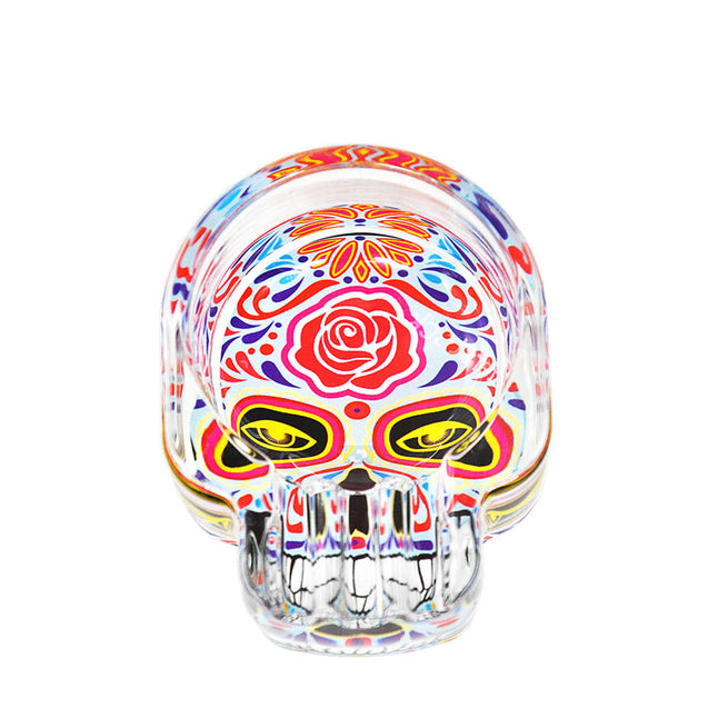 Three Ash Holder Skull Glass Ashtray Accessories For Smoker (Random Color) Storage Tool Home Decorations
