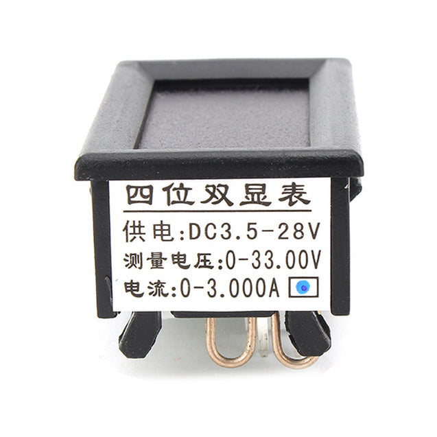 3pcs RUIDENG 0-33V 0-3A Four Bit Voltage Current Meter DC Double Digital LED Voltmeter