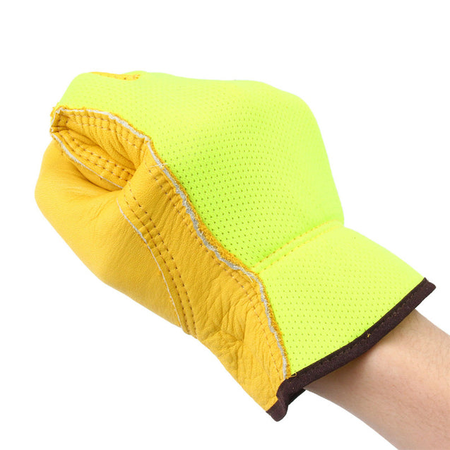 BIKIGHT Anti Skid Breathable Sports Bicycle Full Finger Gloves Cow Leather