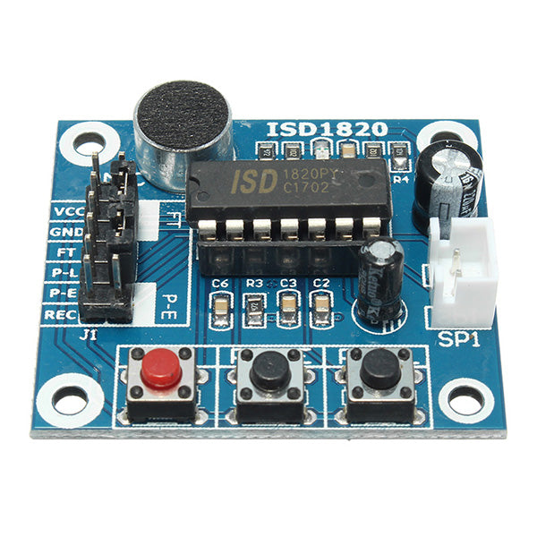 ISD1820 3-5V Voice Module Recording And Playback Module SCM Control Loop / Jog / Single Play