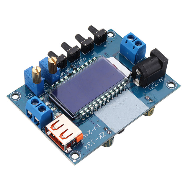 DC-DC 12V to 9V/5V LCD Voltage Regulator Power Supply Digital Step Down Module with USB Charging Capacity Display