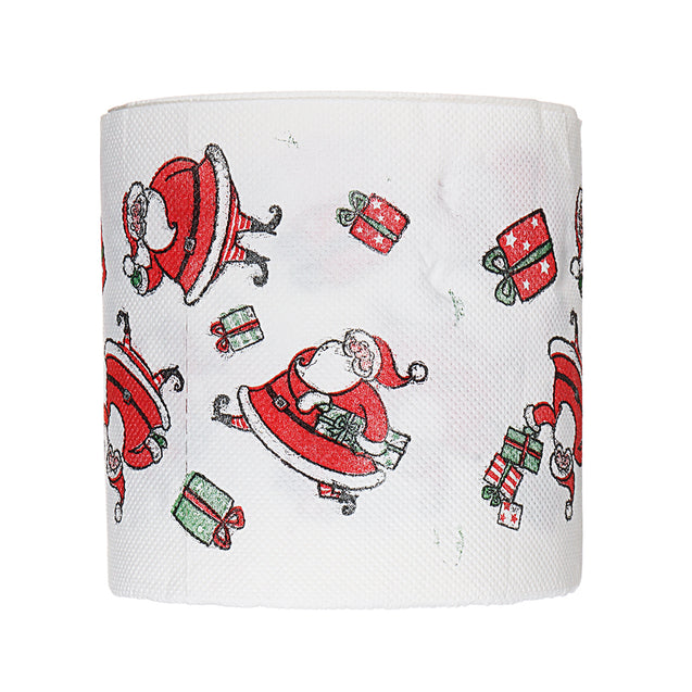Santa Claus Printed Merry Christmas Toilet Paper Tissue Table Room Decor Ornament Crafts Decorations