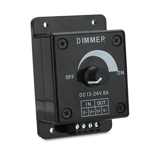DC 12-24V 8A Manual Adjustable LED Dimmer Switch Control For Single Color LED Strip