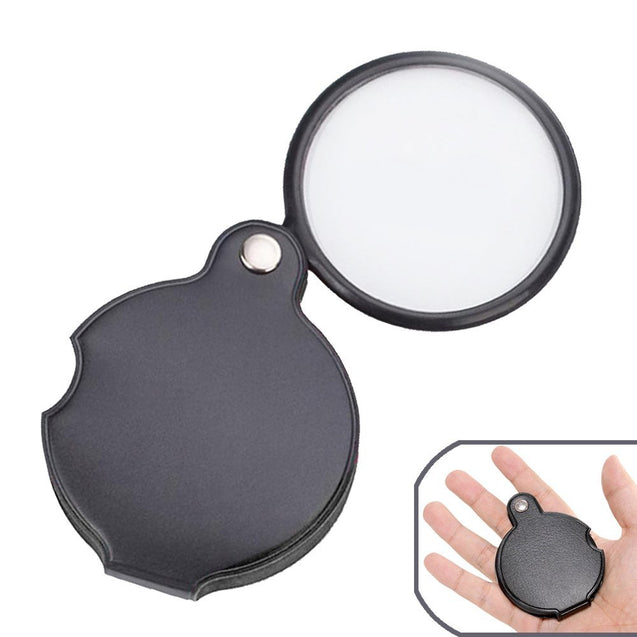 5 Times Magnifying Glass HD Lens Handheld Folding Portable Reading Glasses