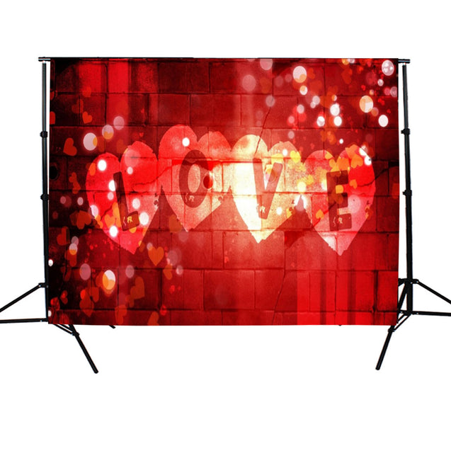 7x5FT Valentine's Day Love Hearts Photography Backdrop Studio Photo Background