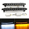 Pair LED White Daytime Running Lights DRL with Yellow Turn Signal Lamp for Audi Q7 07-09
