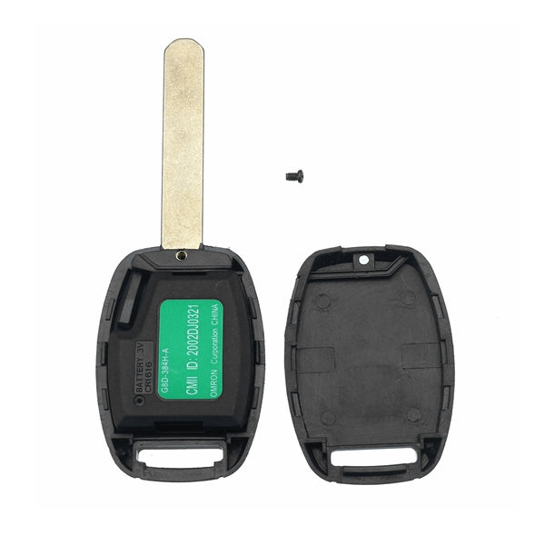 2 Buttons Remote Key Fob Case Shell With ID-46 Chip For Honda Accord Fit Civic