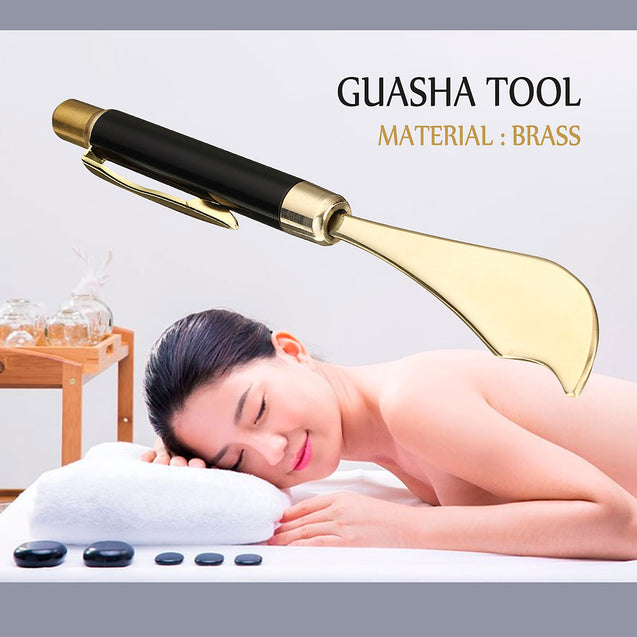 GuaSha Scraping Body Skin Facial Beauty SPA Manual Massager Copper Gua Sha Tool Box Set