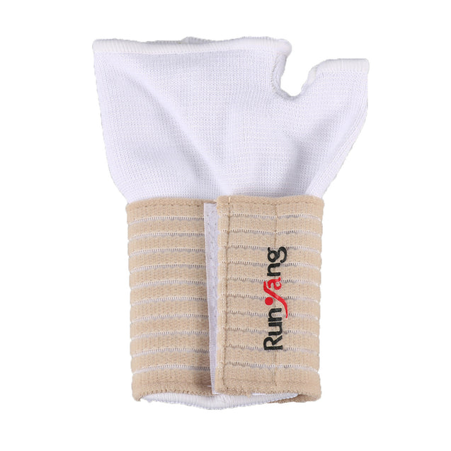 Mumian 1 Pair A34 White Sports Wrist Support Brace Band Wristband Gym Professional Exercise Fitness Protective Gear