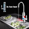 220V 3kW Instant Electric Hot Faucet Fast Water Heater Bathroom Kitchen Tap LED Display