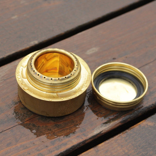 Camping Picnic Brass Spirit Alcohol Cooking Stove Combustor Portable Picnic BBQ Burner Furnace