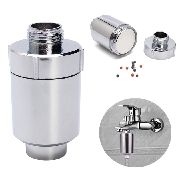 Water Filter Purifier In Line Faucet Shower Head Softener Filtration Remove Chlorine