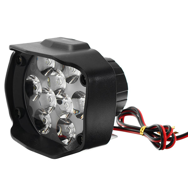 9-85V 1500lm 15W Motorcycle Spotlight Motor Bike Headlamp Bicycle Scooter ATV Headlight Black IP65