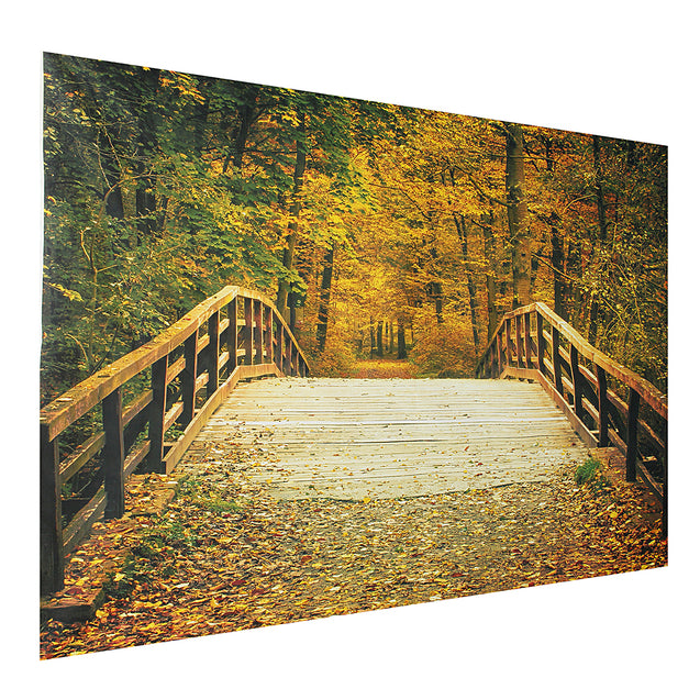 5x7FT Autumn Fall Bridge Photography Vinyl Background Studio Photo Backdrops