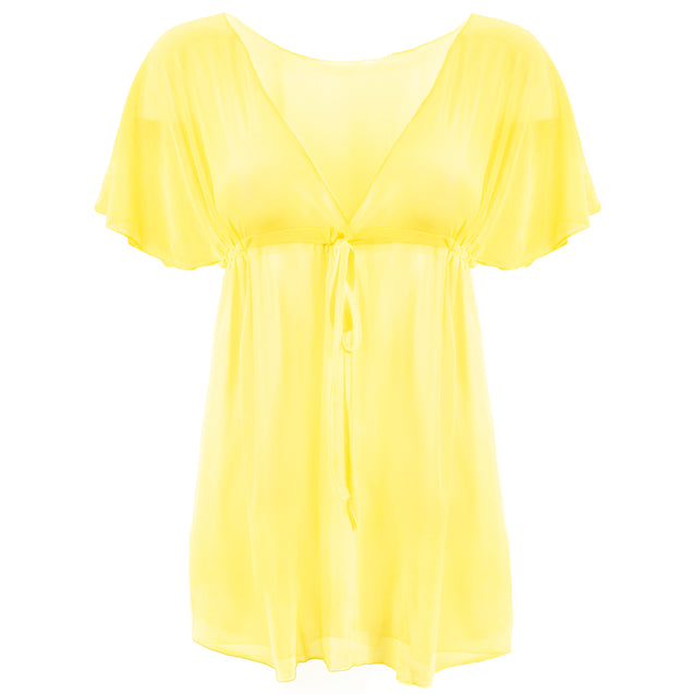 Women's Chic & Sheer Beach Poncho, Yellow