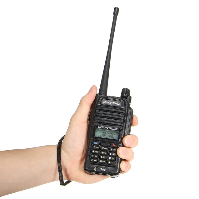 BAOFENG BF-R760 Waterproof Dual Band 2 Way Radio Ham Transmitter Walkie Talkie