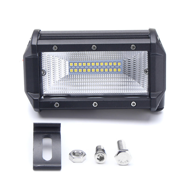 5 Inch 72W LED Work Light Bars Flood Beam IP67 10-30V White 2PCS for Jeep Off Road SUV Truck