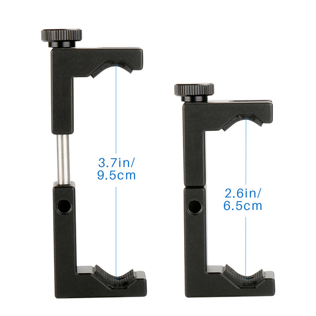 Ulanzi ST-02S Aluminum Rotate Vertical Horizontal Phone Holder Clamp Clip with Cold Shoe Mount
