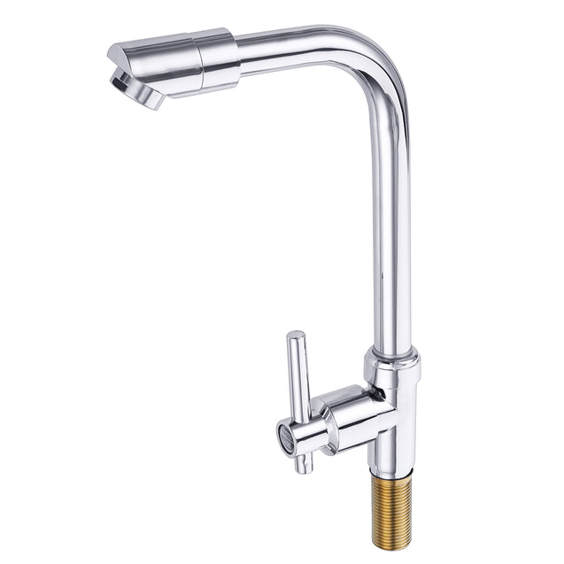 Kitchen Sink Faucet Single Hole Rotate Cold Water Basin Tap