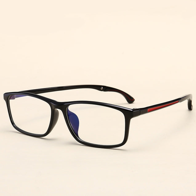 TR90 Retro Eyeglass Frame Adjustable Temple Length Black Glasses Frame