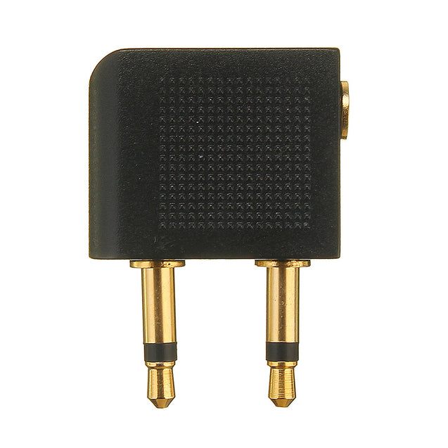 3.5mm 2x3.5mm Airplane Airline Travel Headphone Earphone Adapter