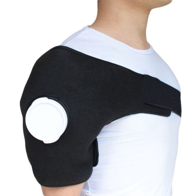 Ice Gel Pack Hot Cold Therapy Wrap Shoulder Injuries Sprains Muscle Joint Pain Blue Black