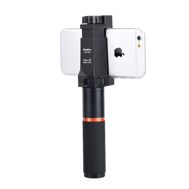 VIEWFLEX VF-H7 Bluetooth Electronic Video Grip Stabilizer with LED Light Microphone Remote Control