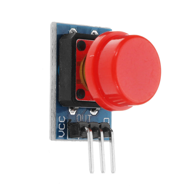20pcs Big Key Module Push Button Switch Module With Hat High Level Output Electronic Switch Module