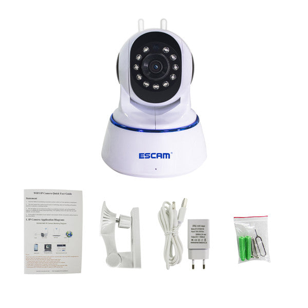 ESCAM QF003 1080P Dual Antenna Pan&Tilt Wireless IP Night Vision IR Security CCTV P2P Camera
