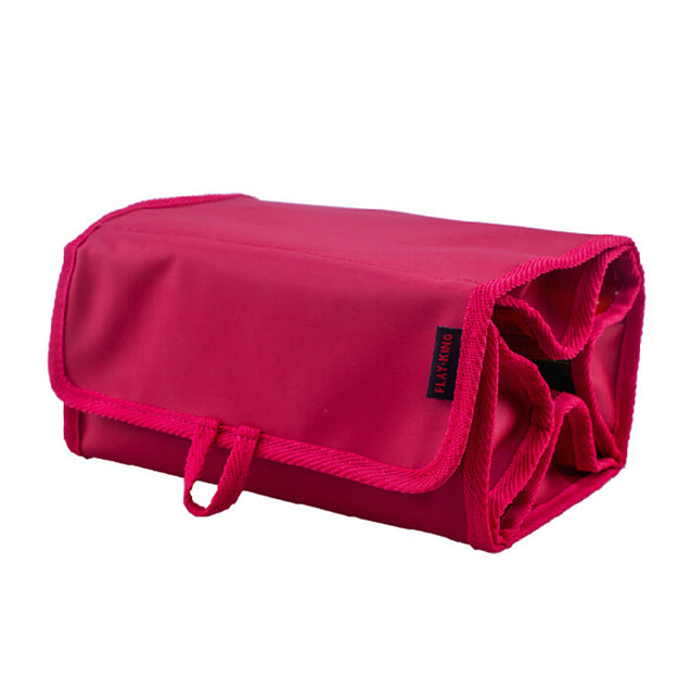 IPRee Nylon Outdoor Travel Foldable Cosmetic Bag Large Capacity Hanging Shower Makeup Bag