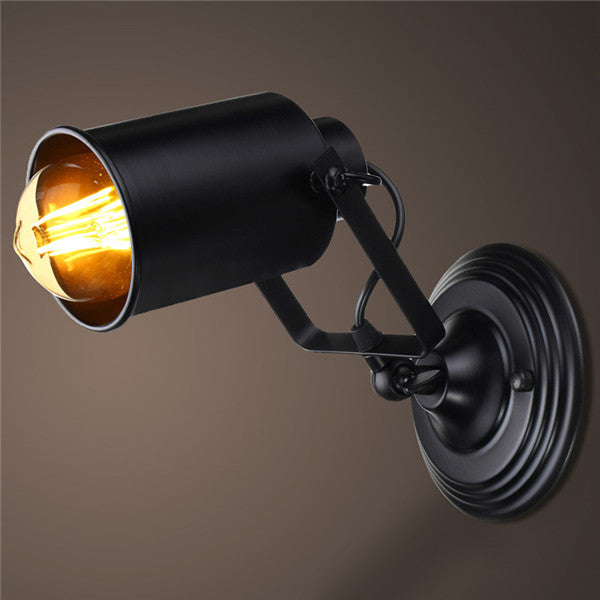 E27 Nordic Retro Wall Lamp Spotlight  Fixture Adjustable for Bedroom Bar Balcony Entrance 110-220V