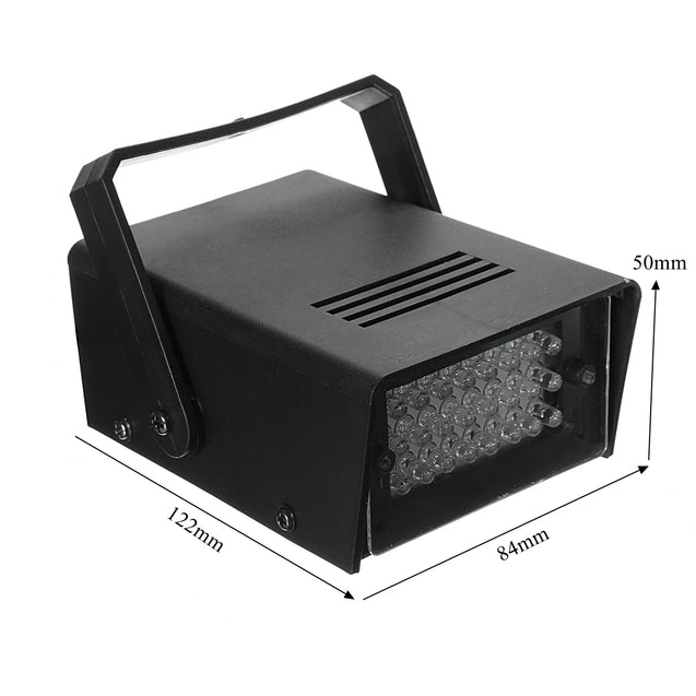 Mini 3W 24 LED Stage Light White Halloween Party Effect Lighting Lamp for DJ Club KTV US Plug AC220V