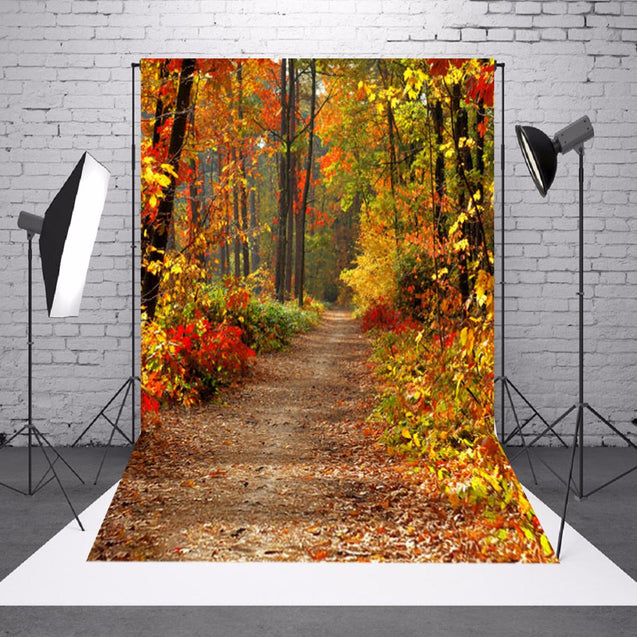 5x7ft Autumn Fall Forest Vinyl Background Backdrop Cloth Photography Photo Props