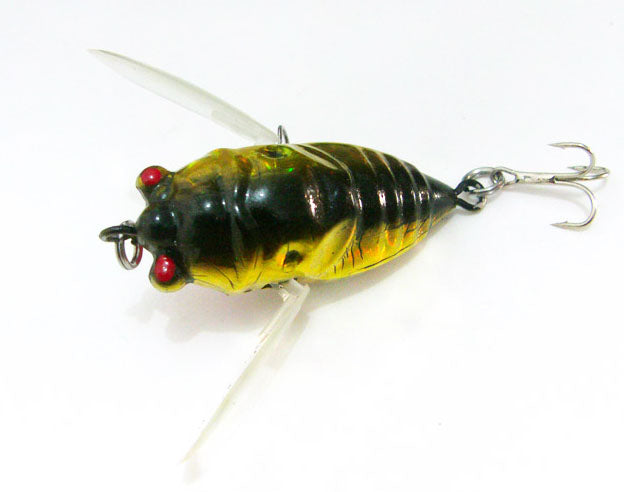 Cicada 6g Perch Insect Lure Bait Fishing Lifelike Bait with Hooks