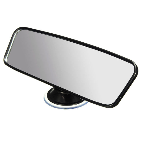 Universal Car Van Truck Wide Flat Interior Rear View Mirror Adjustable Suction
