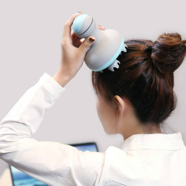 MINI 3D Electric Head Massager Four Wheel Rotation 2 Speed Vibration From Xiaomi Youpin