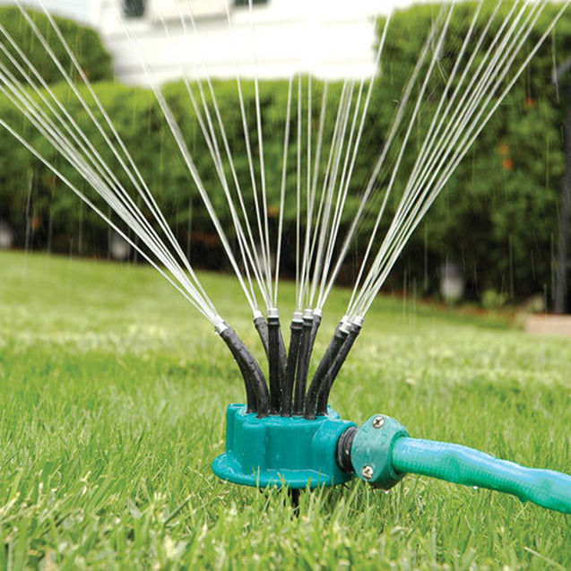 360 Sprinkler Garden Irrigation Multi-nozzle Lawn Green Roof Cooling Rotation Sprayer