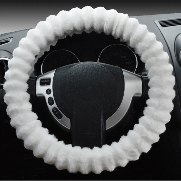 Car Steel Ring Wheel Cover Soft Imitation Wool Warm Universal