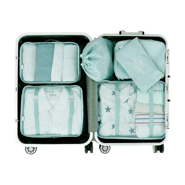 6 Pcs Storage Bag Waterproof Travel Luggage Clothes Organizer Toiletries Bag